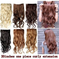 "Better Dealz 20"" 135g Long Curly Clip-on Hair Extension Wigs Chestnut Brown,chocolate Brown,light Blonde,medium Brown,brown,natural Black Six Color to Choose (brown)"