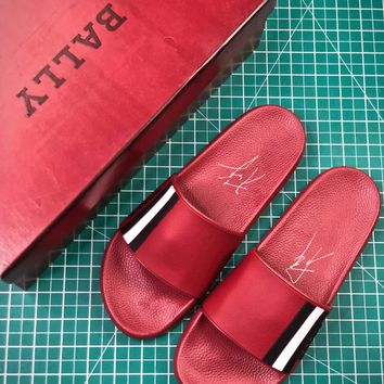 Bally Sandals Red Slipper