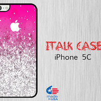 5C Case iPhone iPhone 5c Case iPhone 5C Cover 5c Case iPhone 5c Case iPhone Case iPhone 5c iPhone Skin   Pink Sparkle (Not Actual Glitter)