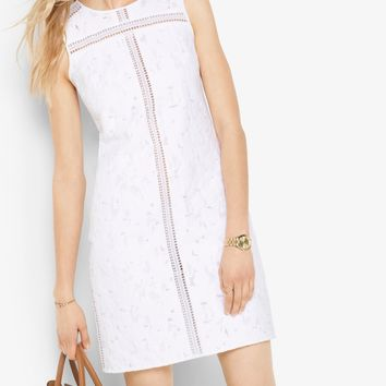 Leopard Jacquard Cotton Shift Dress | Michael Kors