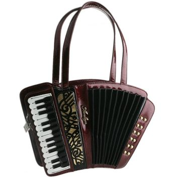 Women's vintage accordion bag Musician's handbag party concert use novelty Trong music purse-USA accordionist recommended