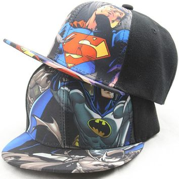 Kids Baseball Cap Fashion Iron Man Captain Superman Batman Spider-Man One Piece Snapback Caps Children Boys Hip Hop Hat 2203