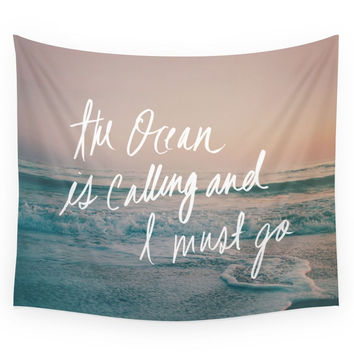 Society6 The Ocean Is Calling By Laura Ruth And L Wall Tapestry