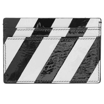 Patent Leather Credit Card Wallet by RAF SIMONS