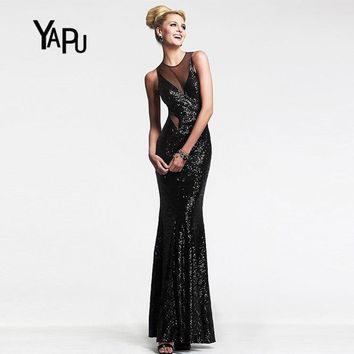 2017 summer Europe and the United States new sexy wrapped chest net yarn stitching dress drape women dress