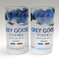 Grey Goose Vodka Bottle Drinking Glasses - Set of Two