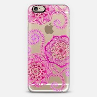 Sweet Rose & Magenta Floral Doodle on Transparent iPhone 6 case by Micklyn Le Feuvre | Casetify