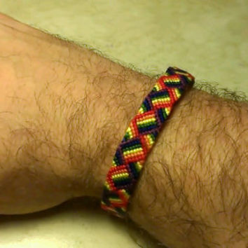 Handmade Rainbow Braid Friendship Bracelet