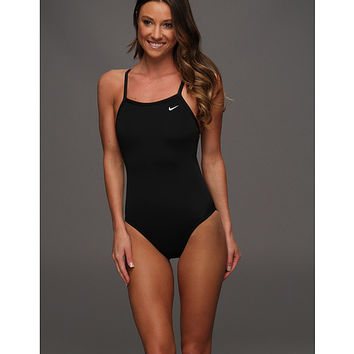 Nike Solid Poly Lingerie Tank One Piece Black - Zappos.com Free Shipping BOTH Ways