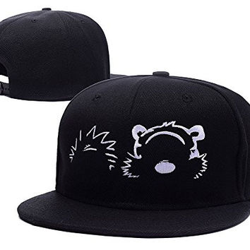 BARONL Calvin And Hobbes Adjustable Embroidery Snapback Hat Cap