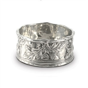 Vagabond House Acorn & Oak Leaf Pewter Wine Coaster
