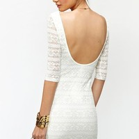 Metallic Lace Dress in  Clothes Dresses at Nasty Gal