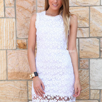 DAISY CHAIN CROCHET DRESS , DRESSES, TOPS, BOTTOMS, JACKETS & JUMPERS, ACCESSORIES, SALE, PRE ORDER, NEW ARRIVALS, PLAYSUIT, COLOUR,,White,LACE,BODYCON,SLEEVELESS Australia, Queensland, Brisbane