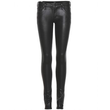 citizens of humanity - racer coated skinny jeans
