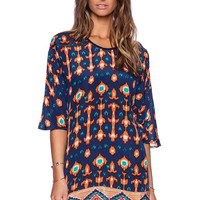 Graphic Mini Dress with Sleeve