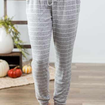 Lazy Days Striped Joggers- 2 Options