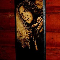 Harry Potter art - Severus Snape woodburned home decoration