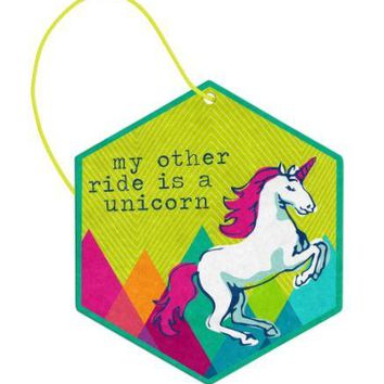 My Other Ride is a Unicorn Vanilla Air Freshener (2 Pack) by Wit