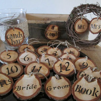 Table Numbers, Wedding Numbers, Wood Numbers, Rustic Wedding, Barn Wedding, Barn Wedding  Decorations, Guest Book, Candy Bar