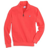 Skipjack 1/4 Zip Pullover in Fire by Southern Tide
