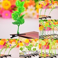 10PCS/set New Design Women Men Children Flower Grass Antenna Hairpin Cute Plant Hair Clip Headwear