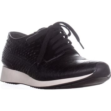 VINCE Rayner Lace Up Sneakers, Black Leather, 8.5 US / 38.5 EU