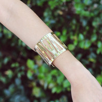 Etched Gold Cuff