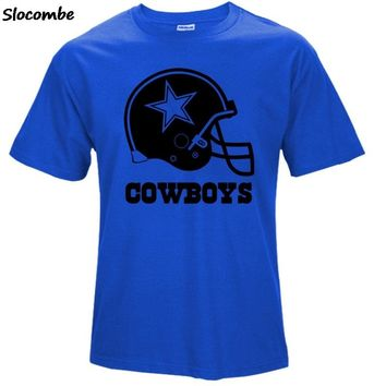 2018 Summer Fashion Men's Cowboys Fans T-Shirt, Dallas Tees Logo Picture Printing T Shirt  S270
