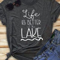 Life Is Better At The Lake T-Shirt - Bellelily