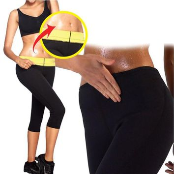 Womens Slimming Stretch Pants Hot Thermo Neoprene Sweat Sauna Control Workout Panties Body Shapers Shapewear