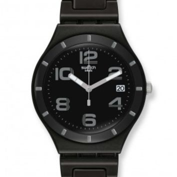Swatch Irony Only Black Dial Aluminum Unisex Watch YGB4008AG