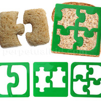 LUNCHPUNCH PUZZLE PIECES SANDWICH CUTTERS