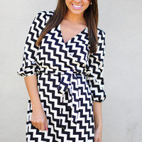 Reverse The Chevron Spell Dress: Black | Hope's