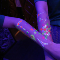 Neon Metallic Flash Jewelry Tattoos Fluorescent Henna Paris Princess Theme