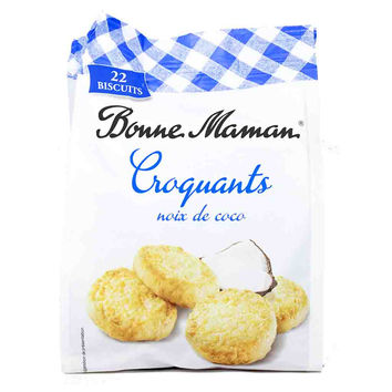 French Coconut Croquants Cookies by Bonne Maman 5.3 oz