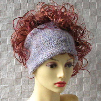 Pastel  Soft knitted headband, Ladies wide hair accessory, winter earwarmer  knitted hair wrap