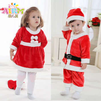 Children's Christmas dress clothing the stage costumes Santa Claus baby snowsuit all for children clothing and accessories