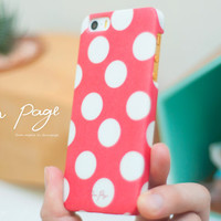 Apple iphone case for iphone iphone 5 iphone 5c iphone 5s iphone 4 iphone 4s iPhone 3Gs : cute red polka dot
