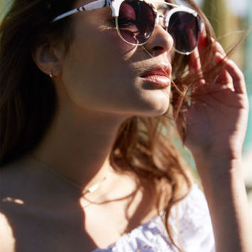 LA Hearts Black Marble Top Bar Sunglasses at PacSun.com