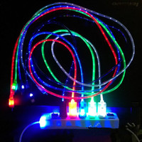 Light Up LED Micro USB Data Sync Charger Cable For Android Samsung iPhone 5 5S 6