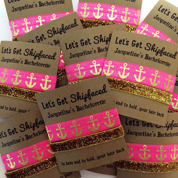 Bachelorette Party Favors | To Have and To Hold Your Hair Back | Hair Tie Favors | Let's Get Shipfaced