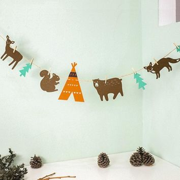 Woodland Animal Garland, Woodland Party Banner, Woodland Theme, Woodland Birthday, Forest Animals Nursery, Forest Animal Party