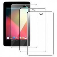 3 Pack For Google Nexus 7 Clear Screen Protector Guard - Perfect Fit
