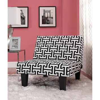 Kebo Chair, Black and White Geometric Pattern with Dark Leg - Walmart.com
