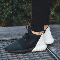 """Adidas"" Tubular Defiant Women Men Black White Casual Sports Shoes"