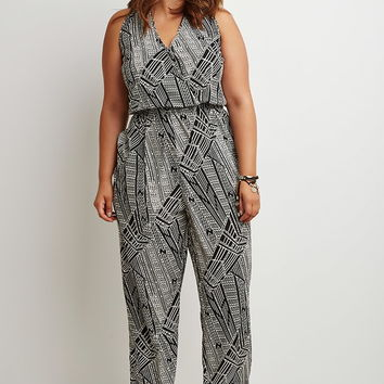 Plus Size Geo Print Jumpsuit | Forever 21 PLUS - 2000142601