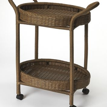 Pevita Rattan Serving Cart