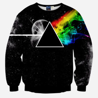 The Dark Side Of The Moon All Over Print Pink Floyd Black Crew Neck Sweatshirt