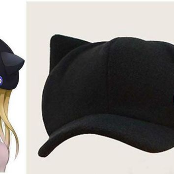 EVA Asuka women baseball cap Neon Genesis Evangelion cap Langley Soryu Cat Ear Polar Fleece Hat Peaked Cap Badges Casquette