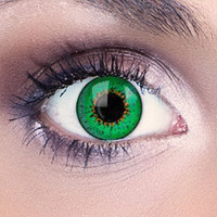 Green 3 Tone Funky Eyes Contact Lenses (Pair)